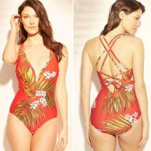 Kona Sol Women's Strappy Back V-Wire Swimsuit
